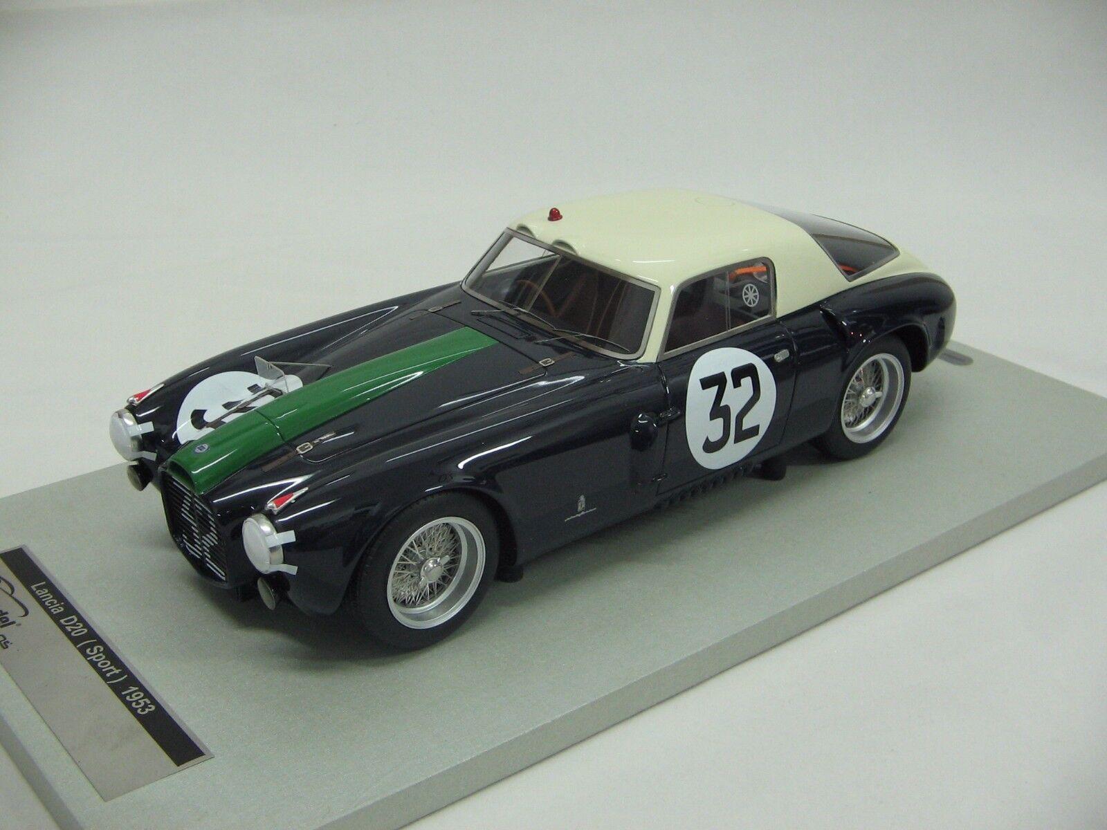 1 18 Scale Tecnomodel Tecnomodel Tecnomodel Spear D20 Racing Coupe le Mans 24h 1953 Car Tm18-41b 87de80