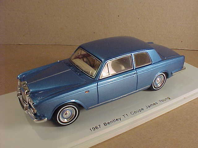 Spark 1 43 Resin 1967 Bentley T1 Coupe Styled by James Young, bluee Met.  S3815