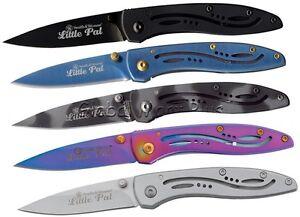 Pocket-Knife-Folding-Drop-Point-Pen-Blade-Bullseye-Little-Pal-Smith-amp-Wesson