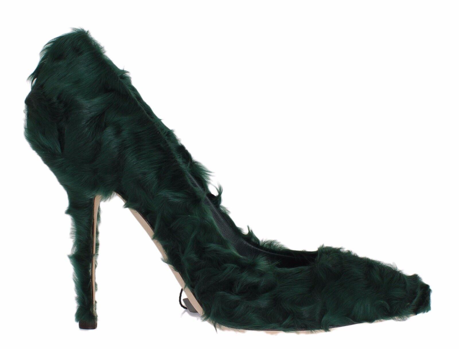 Descuento de liquidación NUEVO DOLCE & GABBANA Zapatos Verde xiangao Cordero Piel Cuero salón tacón Eu40