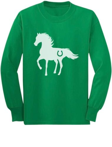 Love Horses Youth Kids Long Sleeve T-Shirt Rearing Horse Gift For Horse Lover