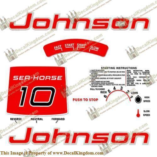 Johnson 1961 Outboard Decal Kit (Multiple Sizes Available) 3M Marine Grade