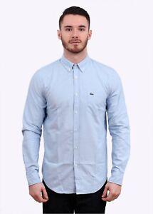 New Men/'s Lacoste Shirt Plain Black Sky White Navy Slim Fit Size S M L XL XXL