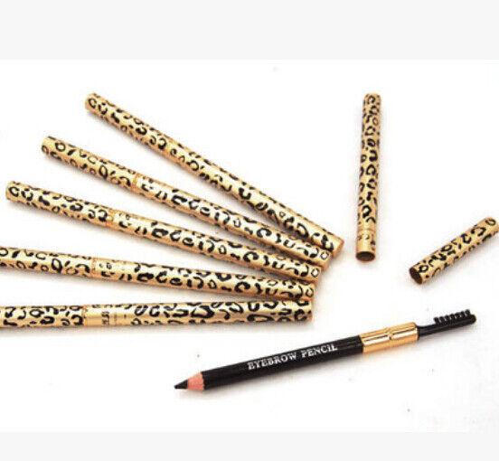 Waterproof Longlasting Eyeliner Eyebrow Eye Brow Pencil & Brush Makeup one