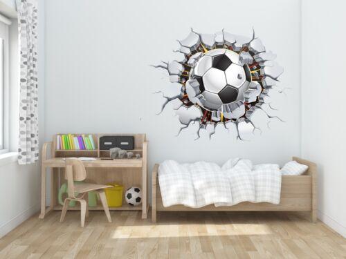 Wall Decal 3D Soccer Hole Decal Decor Stickers Vinyl Sport DG003
