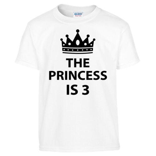 Princess Kids 3rd Birthday Children T-Shirt Gift Funny Present T Shirt Girls