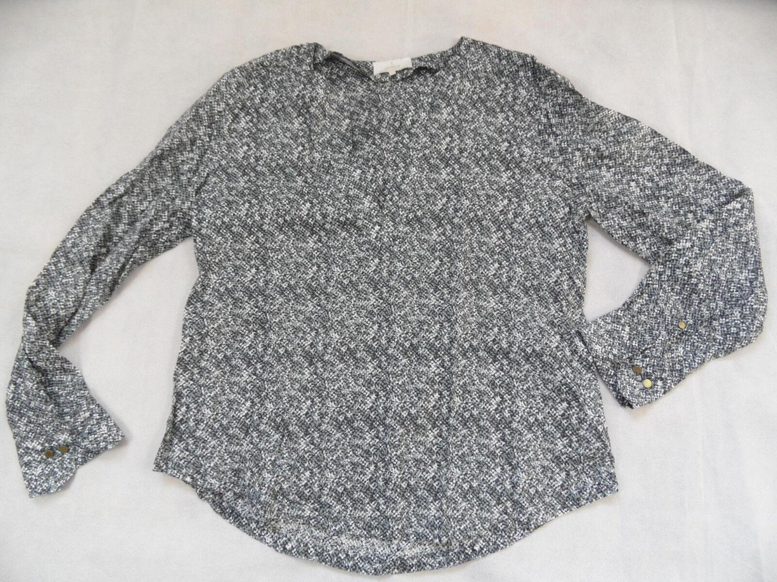CAMPUS Marc o Polo schöne grey weiß gemusterte Tunika Gr. XS TOP 1018