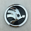 Chrome-Front-Hood-Bonnet-90mm-Rear-Trunk-80mm-Logo-Emblem-Badge-For-Skoda-Option thumbnail 3