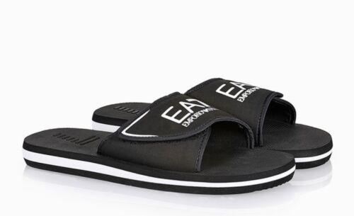 Ea7 Nuovo Armani Slider bianco nero Emporio Sandals 2019 Pool R5066wq