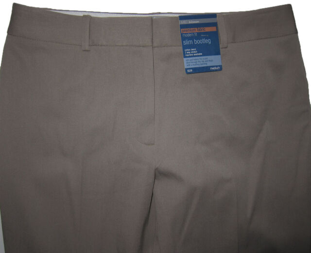 New Womens Marks & Spencer Brown Slim Bootleg Trousers Size 22 18 16 12 10 8