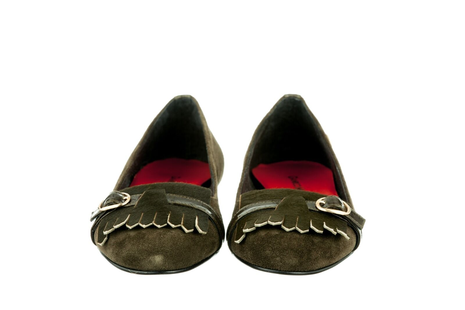 MORI MADE ITALY FLATS PONY SCHUHE Schuhe BALLERINA PONY FLATS SUEDE LEATHER GREEN VERDE 39 c48f70