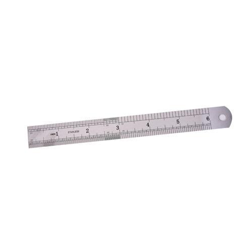 1x Metric Rule Precision Double Sided Measuring Tool  15cm Metal Ruler M/&R