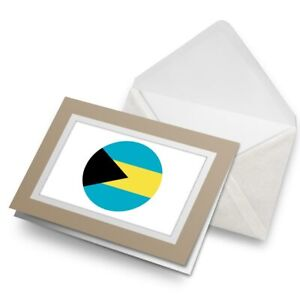 Greetings-Card-Biege-Cool-Bahamas-Flag-Map-9048