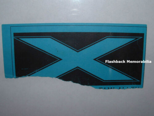 'X' Concert Ticket Stub CLUB HOLLYWOOD CA Early 1980's EXENE CERVENKA Super Rare