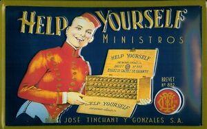 Help-Yourself-Ministros-Zigarren-Blechschild-Schild-Blech-Tin-Sign-20-x-30-cm