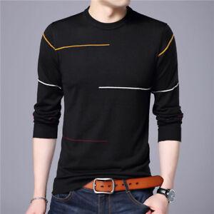 Camisa para hombre del suéteres Slim Fit de manga larga hombres ... f6af66ede5d5