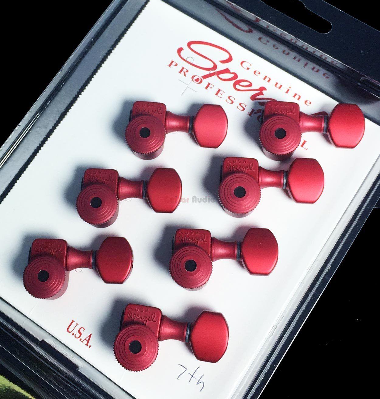 Sperzel 7-cuerdas guitarra en línea trimlok bloqueo sintonizadores Clavijas De De De Afinación-Rojo ef34fc