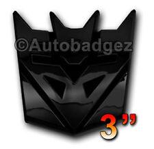"1 - NEW Black Transformers DECEPTICONS badge emblem (3"" GLOSS BLACK)"