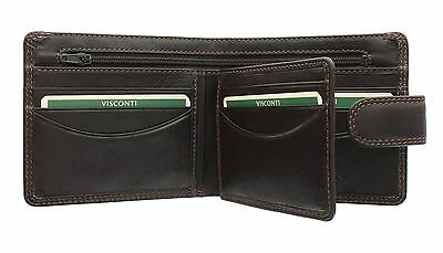 Beliebte Marke Visconti Heritage Collection Sloan Gents Leather Wallet Rfid Blocking Ht9