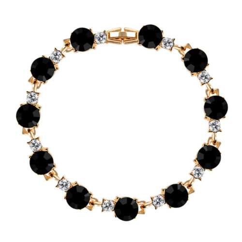 Fashion Gold Plated Crystal Rhinestone Woman Bracelet Chain Coolorful Bangle