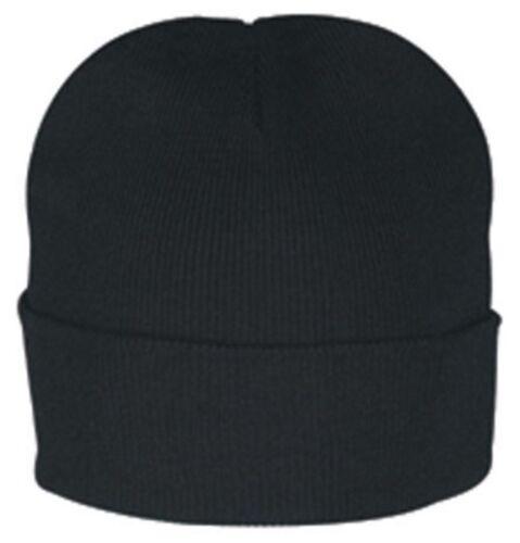 "Cuffed Long Folded 12/"" Beanie Beanies Warm Knitted Winter Hats Skiing Unisex"