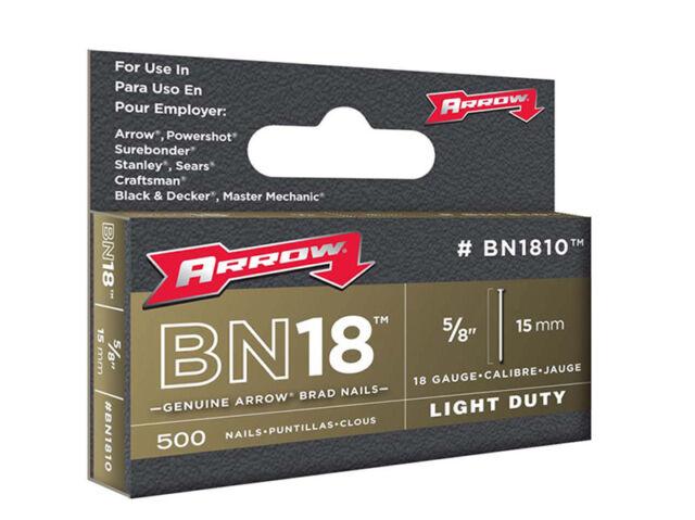 Arrow ARRBN1810 BN1810 Clavos 15mm Paquete 1000