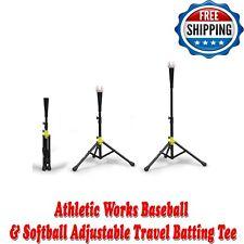Athletic Works 1-1-06925-AW Baseball /& Softball Adjustable Travel Batting Tee for sale online
