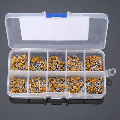 300pcs 10 Values 50V 10pF~100nF Ceramic Disc Capacitors Assortment Kit UK
