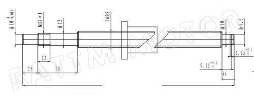 Kit de bkbf 12+Nut+Nut Soporte Cnc Router Mecanizado final de la Unión Europea SFU1605 módulo L300mm