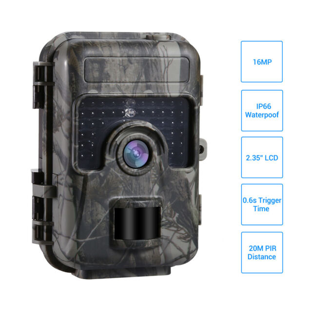 16MP Trail Hunting Camera Home Farm Scouting Night Vsion IP66 LED No Spy Hidden