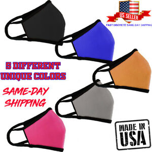 Made In Usa Double Layered Reusable Face Mask Fast Shipping Ebay