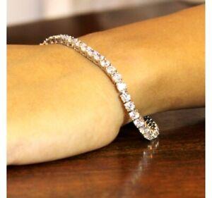 Valentine-Sale-Certified-6-00-Ct-Diamond-Tennis-Bracelet-In-Solid-14K-White-Gold
