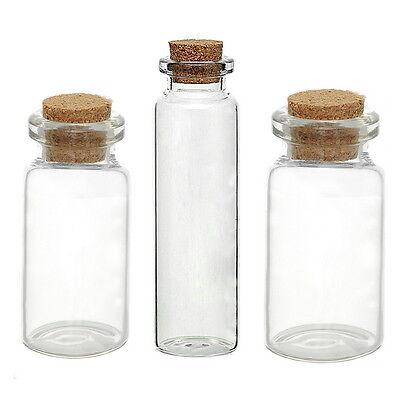 5PCs Small Vase Tiny Glass Bottle Jewelry Vial Potion Tie Plug