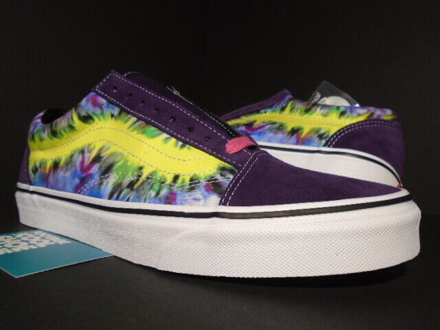 VANS OLD SKOOL TIE DYE MYSTERIOSO PURPLE OFF WHITE NEON SUPREME VN0A38G1VMO 10