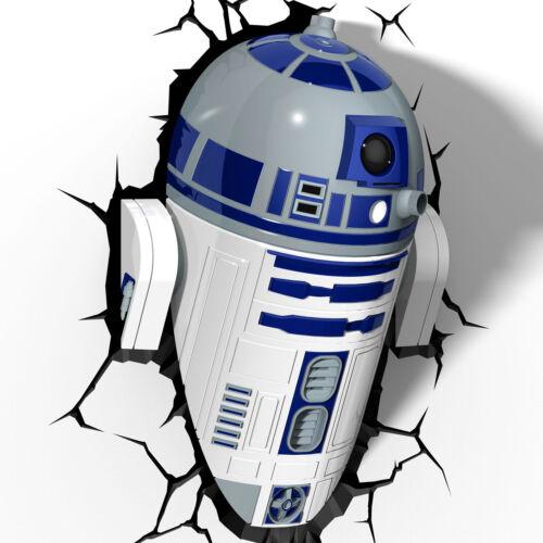 R2-D2 3D NIGHTLIGHT star wars deco night light FX wall NEW disney lite LED r2d2