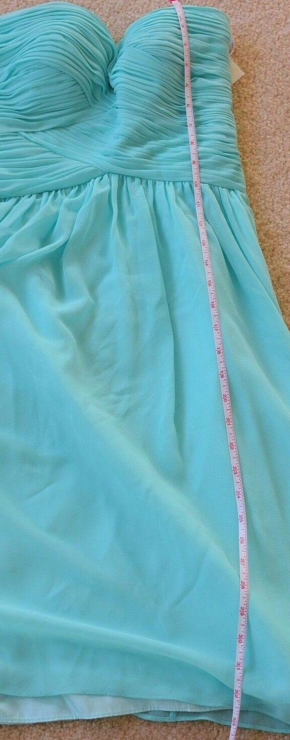 New women women women Morgan Strapless pleated Spearmint bluee Empire Waist Formal dress 4 c1f436