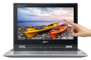 "NEW Acer Chromebook Spin 11.6"" HD Touch Intel N3350 2.4GHz 4GB 32GB eMMC Webcam"