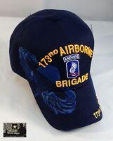 Us Army 173rd Airborne Brigade Ball Cap Vietnam Oef Oif Vet Paratrooper Hat Blue