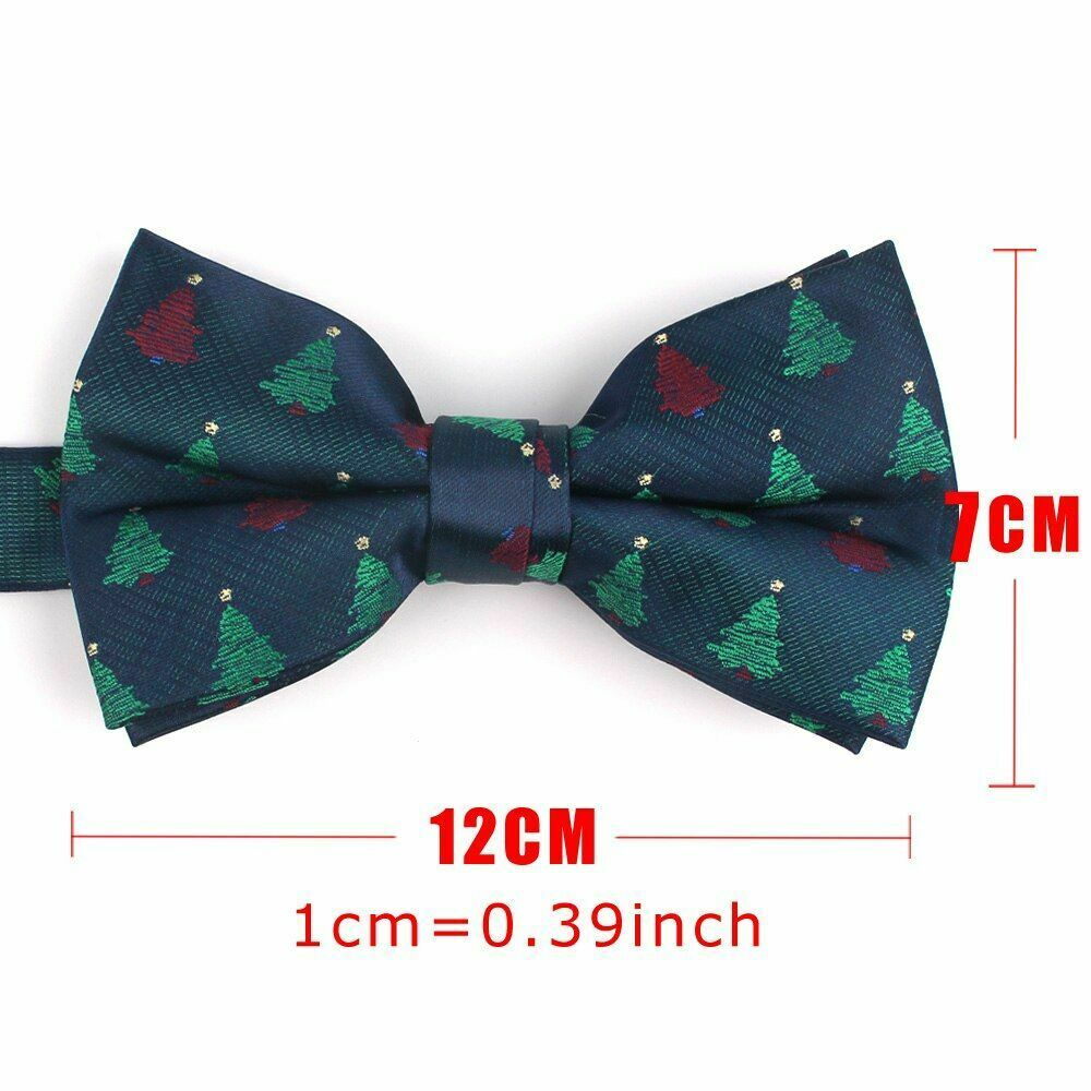 Bowtie Casual For Men Women Bow Knot Adult Cartoon Cravats Christmas Tree Party