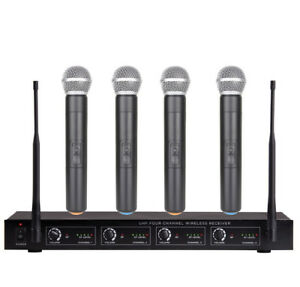 4-Channel-Wireless-Microphone-Mike-System-for-Shure-Wireless-4-Handheld-Mics