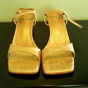 Pre-Owned-Women-s-Franco-Sarto-Vero-Cuoio-Gold-7-5M-Sandal