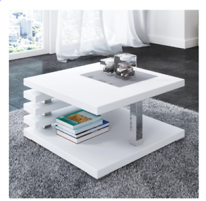 Lola Scratch Resistant Coffee Table With Storage Multi Colour Ebay