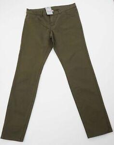 Bogner Hose Jeans Fire + Ice W31 Oliv grün uni gerade Gabardine N037