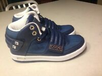 Coogi Stein Navy High Top Sneaker Kids Boys Navy Denim Studs Rocker