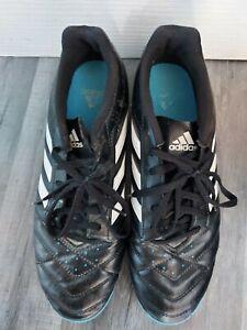 Homme-Goletto-Adidas-Astroturf-Baskets-Taille-10-Noir-Bleu-Football-Sports-Tres-bon-etat