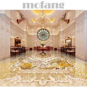 Marbling Gold Royal Patt 3D Floor Mural