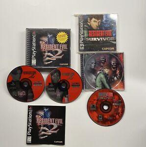 Playstation-1-Resident-Evil-2-amp-Resident-Evil-Survivor-hard-manual-READ-PS1
