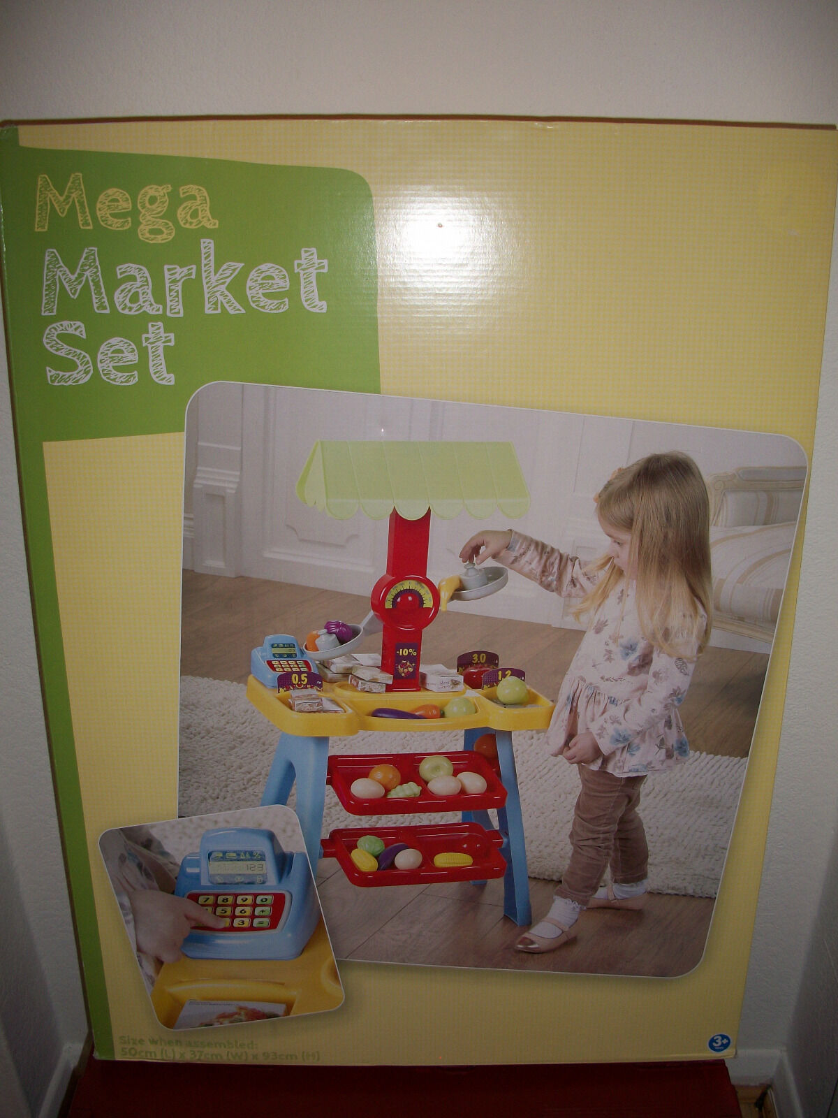 Pretend Play 87 Pcs Mega Market Stall With Scales, Cash Register & Accessories