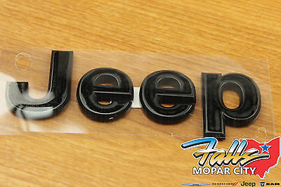 2011-2018 Jeep Wrangler JK Black Jeep Replacement Hood Emblem Nameplate Mopar