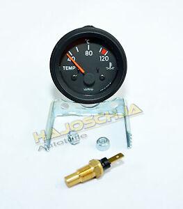 Temperaturanzeige-Thermometer-Wasser-Kuehlwasser-12-Volt-kompl-mit-Sensor-12V